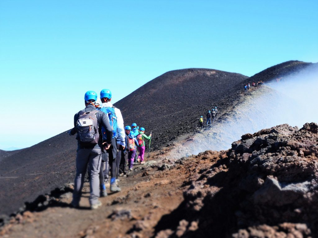 etna trekking cratere centrale
